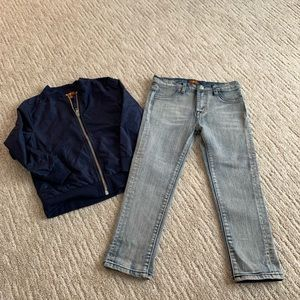 7 for all mankind boys denim set size 4